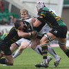 Connacht centre Keith Matthews tries to make the hard yards against the Northampton defence