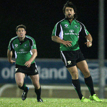 Connacht's Keith Matthews and Troy Nathan