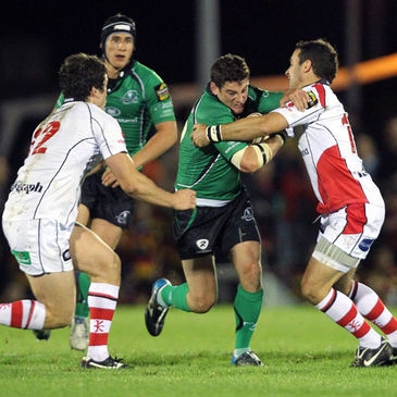 Keith Matthews in action against Ulster