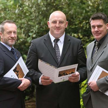 Keith Wood with the Institute of Sport's Sean Kelly and Phil Moore