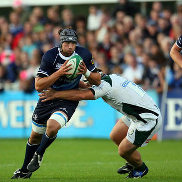 Leinster flanker Kevin McLaughlin in action against London Irish