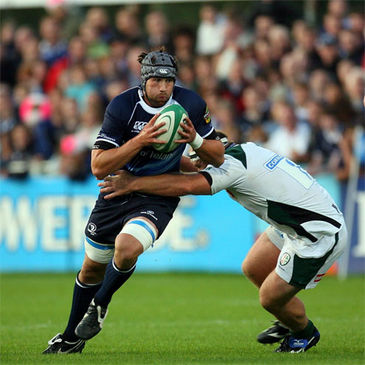 Kevin McLaughlin pre-season action against London Irish