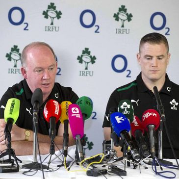 Ireland's Declan Kidney and Jamie Heaslip