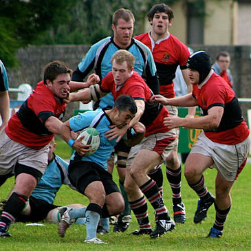 Galwegians scrum half Kieran Campbell in action against UCC
