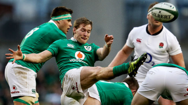 Kieran Marmion in action for Ireland against England