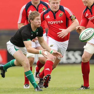 Scrum half Kieran Marmion in action for the Ireland Under-20s
