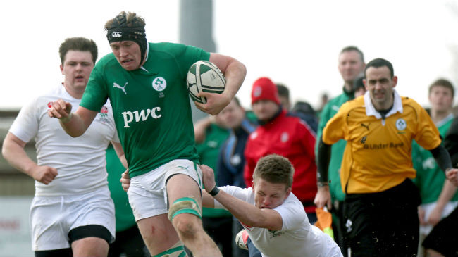Kieran Treadwell in action for Ireland at Under-18 level