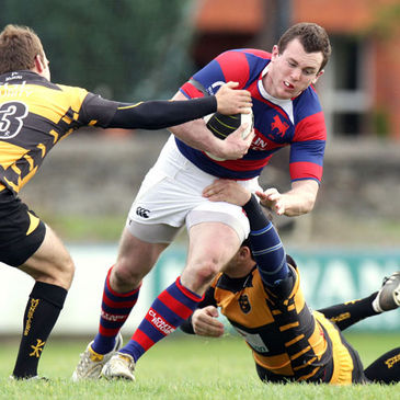 Centre Killian Lett in action for Clontarf