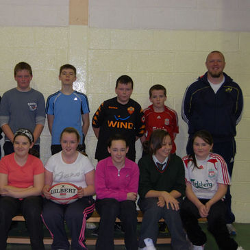 Some of the rugby newcomers in Knocknaheeny/Hollyhill