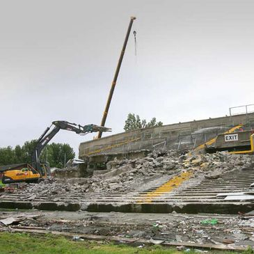 The demolition of the old Lansdowne Road stadium begins