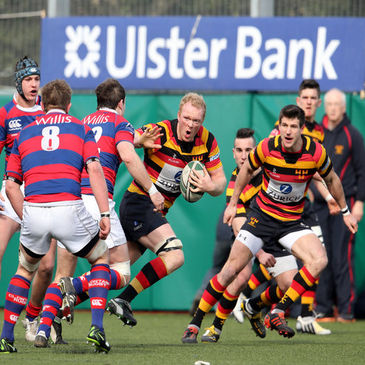 Lansdowne v Clontarf in the Ulster Bank League