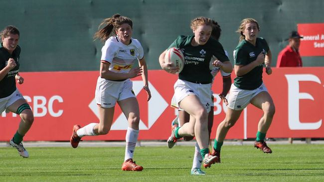 In Pics: Ireland Women's Sevens Development Squad At Dubai 7s