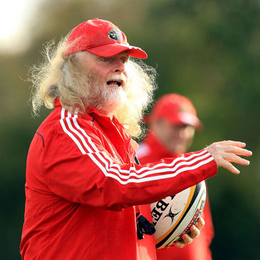 Munster forwards coach Laurie Fisher