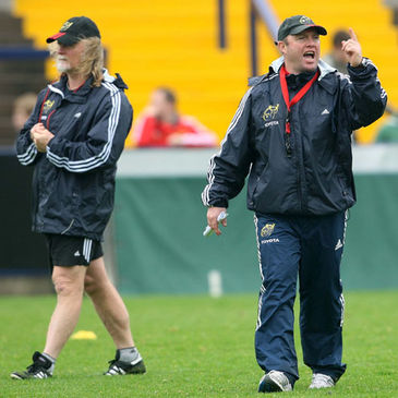 Munster's Laurie Fisher and Tony McGahan
