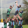 New Zealander Lawrence Babe secures lineout possession for Belfast Harlequins, who beat UL Bohemians in their league opener last weekend