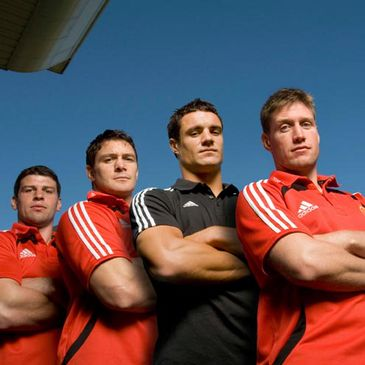 Denis Leamy, David Wallace, Dan Carter and Ronan O'Gara