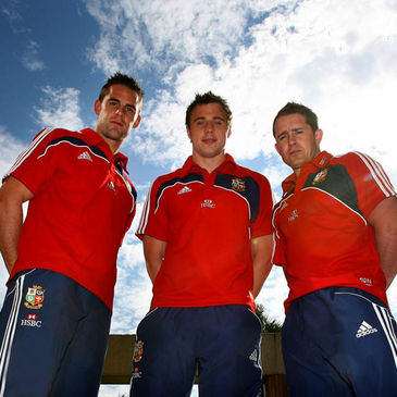 The Lions' all Ospreys back-three of Lee Byrne, Tommy Bowe and Shane Williams