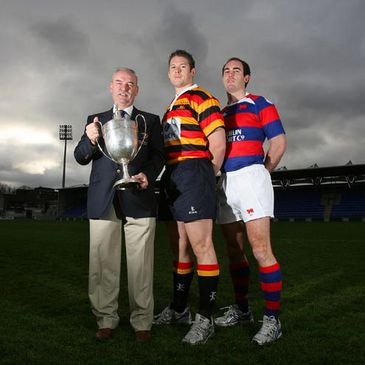 Des Kavanagh, Alan Maher and Daragh O'Shea with the Leinster Senior League Cup