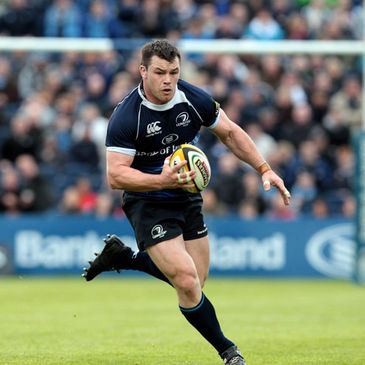 Prop Cian Healy in action for Leinster
