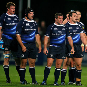 The Leinster players take a breather against London Irish