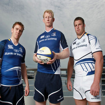 Leinster's Eoin Reddan, Leo Cullen and Sean O'Brien