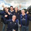 These Leinster fans were getting in the mood early as the blue wave hit Edinburgh
