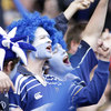 Blue and white is dynamite! These Leinster fans were in full voice as the province got stuck into the Tigers