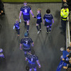 Jamie Heaslip is pictured leading Leinster out for the eagerly-anticipated Magners League derby