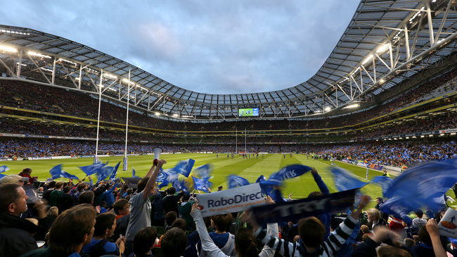Fans at the Aviva Stadium