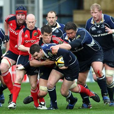 Action from last season's clash at the RDS
