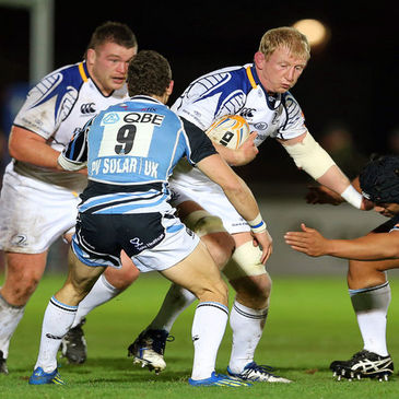 Leinster's Leo Cullen in action against Glasgow
