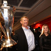 The province's Heineken Cup-winning skipper Leo Cullen is pictured with his fiancée Dairine Kennedy