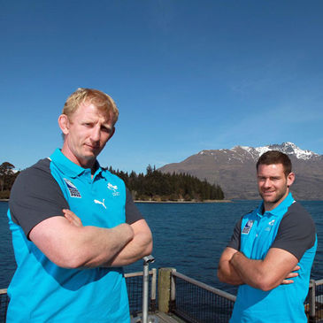 Rugby World Cup debutants Leo Cullen and Fergus McFadden