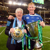 A proud father, Frank Cullen, is pictured with his son Leo who has led Leinster to European glory in both 2009 and 2011