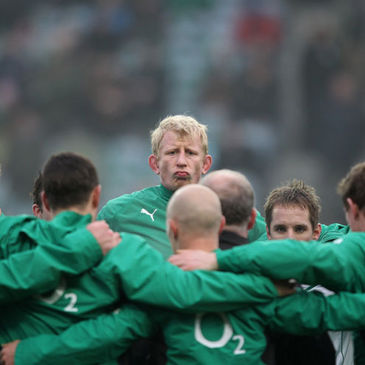 Leo Cullen with the Ireland squad