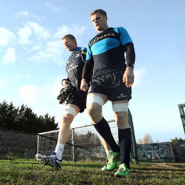 Leinster's Leo Cullen and Jamie Heaslip