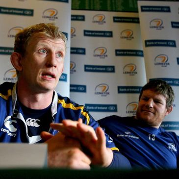 Leo Cullen and Malcolm O'Kelly at Tuesday's press conference