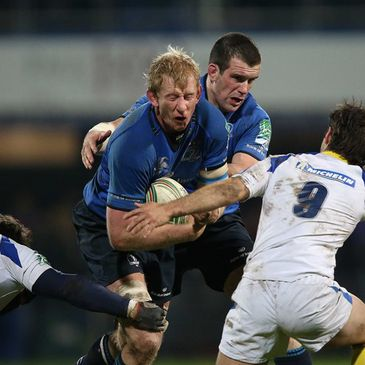 Leinster's Leo Cullen and Shane Jennings
