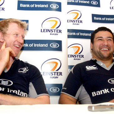 Leinster forwards Leo Cullen and Stan Wright