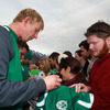 Leo Cullen and the players took time out from their training regime to meet and greet some of their New Zealand-based fans