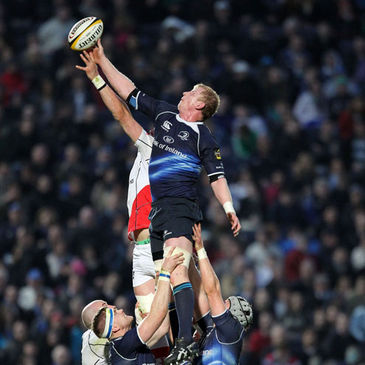 Leo Cullen competes for a lineout ball