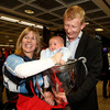 Family members were on hand to congratulate Leinster captain Leo Cullen on the memorable victory over Northampton Saints