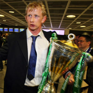 Heineken Cup Champions Leinster Arrive At Dublin Airport, Saturday, May 23, 2009