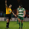 Scottish referee Peter Allan sent Benetton Treviso captain Leonardo Ghiraldini to the sin-bin for a punch
