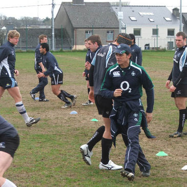 Les Kiss at Connacht's training session