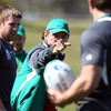 Defence coach Les Kiss directs operations in Taupo as the players gear up for Sunday's Pool C encounter with Russia