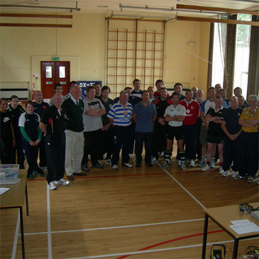 John Callaghan and the coaches at Royal School Dungannon
