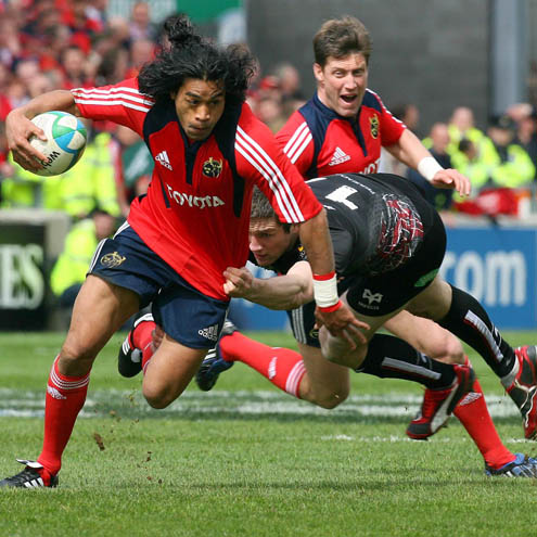 Munster 43 Ospreys 9, Thomond Park Stadium, Sunday, April 12, 2009