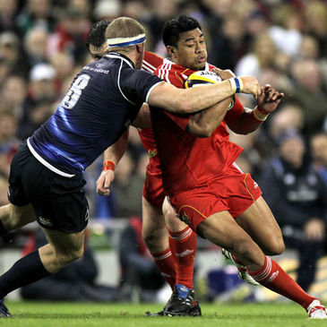Munster's Lifeimi Mafi in action against Leinster