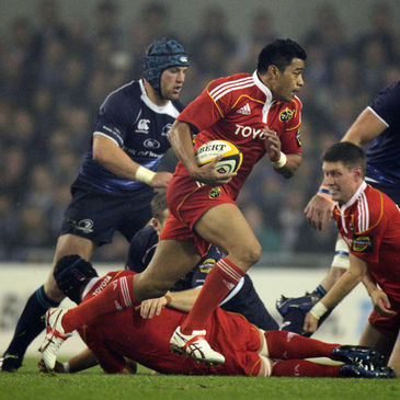 Lifeimi Mafi in action against Leinster
